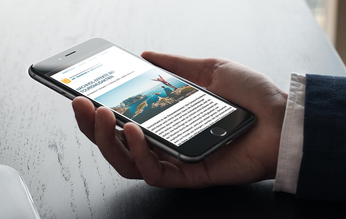 Analysen zu den Finanzmärkten können auch mobil ideal gelesen werden